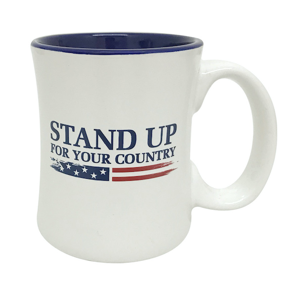 Stand Up For Your Country Diner Coffee Mug Large