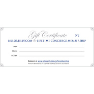 Lifetime Concierge Premium GIFT Membership - GIFT CERTIFICATE - with free Killing Series
